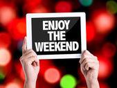 Text Enjoy the Weekend — Stock Photo