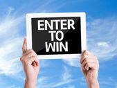 Text Enter to Win — Stock Photo