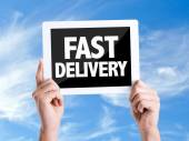 Text Fast Delivery — Stock Photo