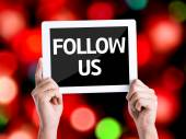 Text Follow Us — Stock Photo