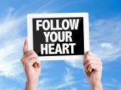 Text Follow Your Heart — Stock Photo