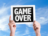 Tablet pc with text Game Over — Stock Photo