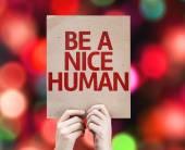 Be a Nice Human card — Stock Photo