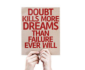 Doubt Kills More Dreams card — Stock Photo
