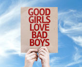 Bonne carte de filles Love Bad Boys — Photo