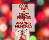 Amazing Memories card — Stock Photo
