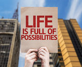Life is Full Of Possibilities card — Stock Photo
