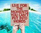 Live for the Moments card — Stock Photo