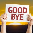 Goodbye card in hands — Stock Photo #67109071