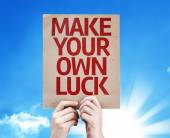 Make Your Own Luck card — Stock Photo