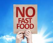 No Fast Food card — Stock Photo