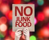 No Junk Food card — Foto de Stock