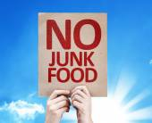 No Junk Food card — Stock fotografie