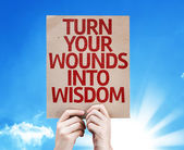 Turn Your Wounds Into Wisdom card — Stock Photo