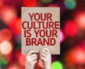 Your Culture is Your Brand card — Stock Photo