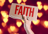 Faith card in hand — Stockfoto