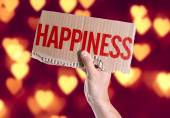Happiness card in hand — Stock Photo