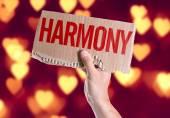 Harmony card in hand — Stock Photo