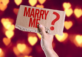 Marry Me? card in hand — Stok fotoğraf