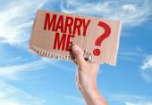 Marry Me? card in hand — Stock Photo