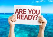 Are You Ready? card — Stock Photo