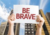 Be Brave card — Stock Photo