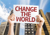 Change The World card — Stock Photo