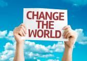 Tarjeta de cambiar el mundo — Foto de Stock
