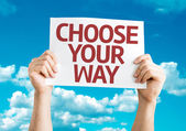 Choose Your Way card — Stock Photo