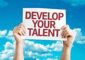 Develop Your Talent card — Stock Photo