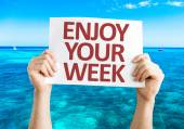 Enjoy Your Week card — Stock Photo