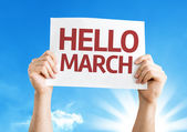 Hello March card — Stock Photo