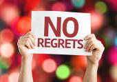 No Regrets card — Stock Photo