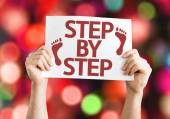 Step By Step card — Stock Photo