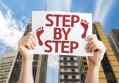 Step By Step card — Stockfoto