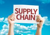 Supply Chain card — Stock Photo