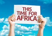 This Time for Africa card — Stock Photo