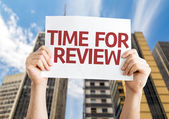 Time for Review card — Stock Photo