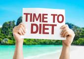 Time to Diet card — Stock Photo