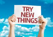 Try New Things card — Stock Photo