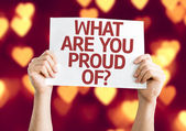 What Are You Proud Of? card — Stock Photo