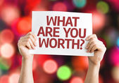 What Are You Worth? card — Stock Photo