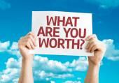 Vad är du värd? kort — Stockfoto