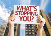 What's Stopping You? card — Stock Photo