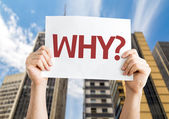 Text : Why? card — Stockfoto