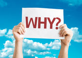 Text : Why? card — Foto Stock