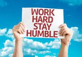 Work Hard Stay Humble card — Stock Photo
