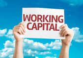 Working Capital card — Stock Photo