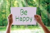 Be Happy card — Stock Photo