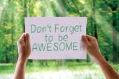 Don't Forget to be Awesome! card — Stock Photo